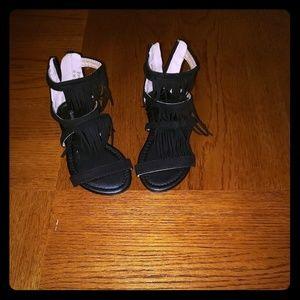 ec186815ef81 Anne Marie · Black Sandals.  9  15. Size  10 (Toddler Girl) ...